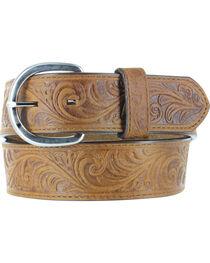 Cody James® Men's Floral Tooled Belt, , hi-res
