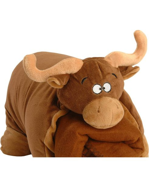 Brown Bull Blanket Buddy, Brown, hi-res