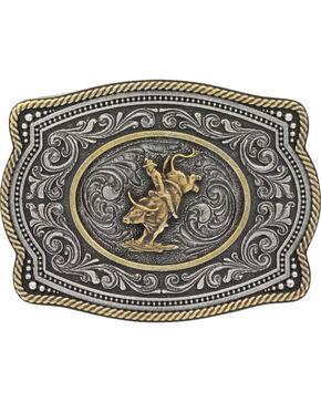 Montana Silversmiths  Bull Rider  Buckle, Silver, hi-res