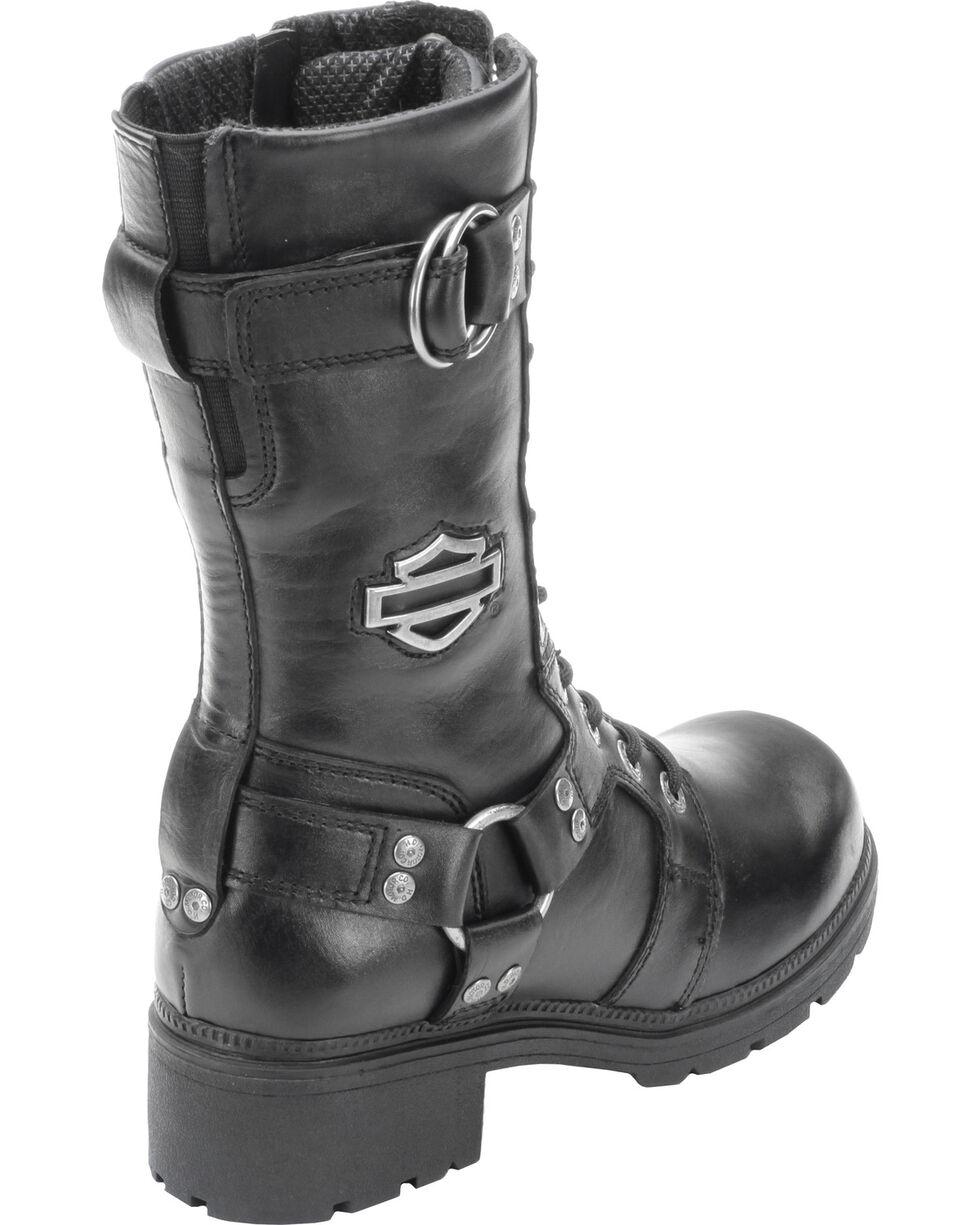 "Harley-Davidson Women's Eda 9"" Lace-Up Motorcycle Boots, Black, hi-res"