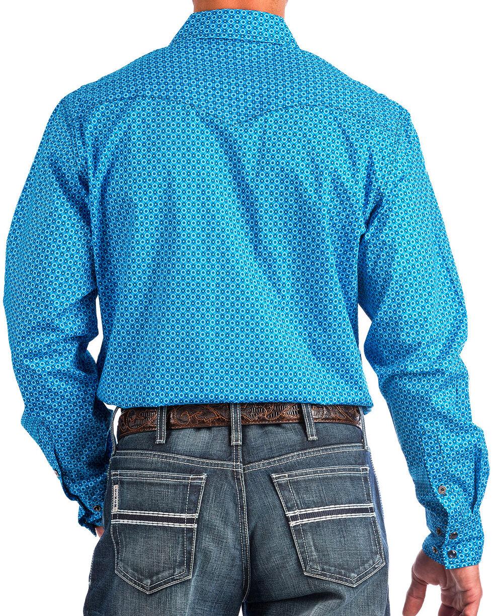 Cinch Men's Blue Modern Fit Printed Shirt , Blue, hi-res