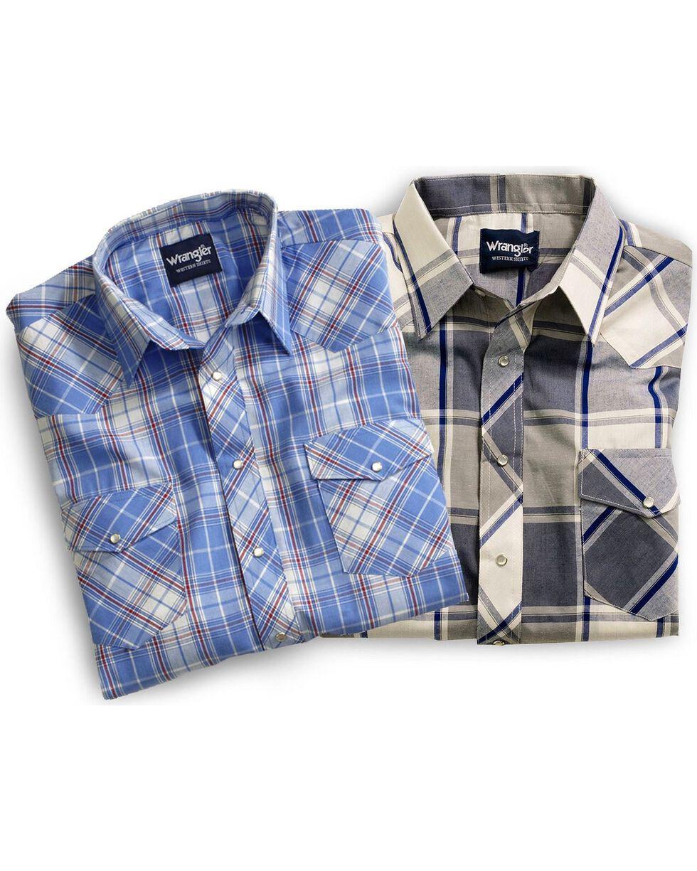 Wrangler Men's Assorted Short Sleeve Plaid Western Shirt, Plaid, hi-res