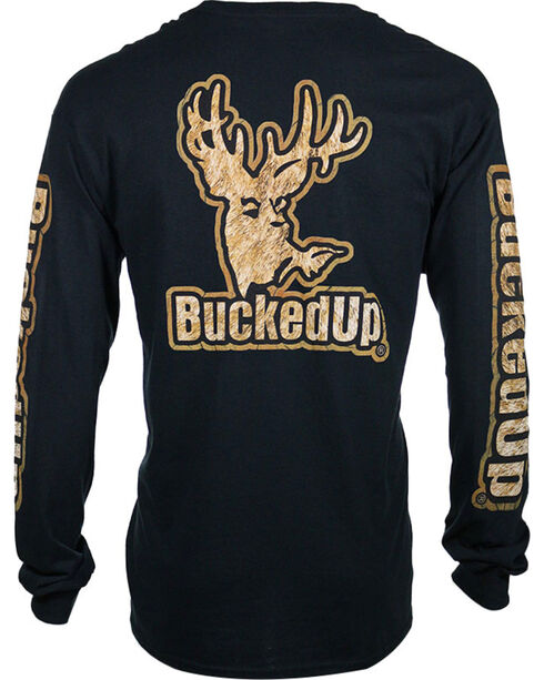 BuckedUp Men's Buckskin Long Sleeve T-Shirt, Black, hi-res