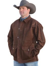Cinch Men's Brown Canvas Ranch Coat , , hi-res