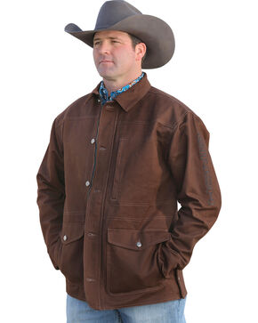 Cinch Men's Brown Canvas Ranch Coat , Brown, hi-res
