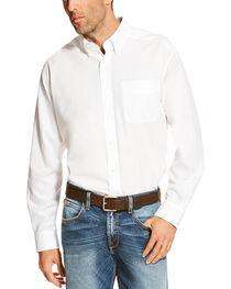 Ariat Men's White Winkle Free Button Down Shirt , , hi-res