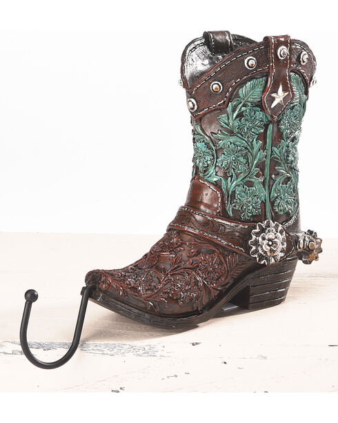 BB Ranch Western Boot Stocking Holder - Turquoise, Turquoise, hi-res