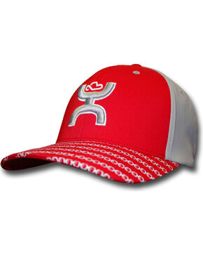 HOOey Men's Solo III FlexFit Baseball Cap, Red, hi-res