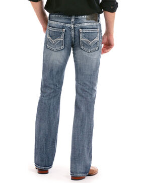 Rock & Roll Cowboy Men's Pistol Regular Fit Medium Wash Jeans - Straight Leg, Blue, hi-res