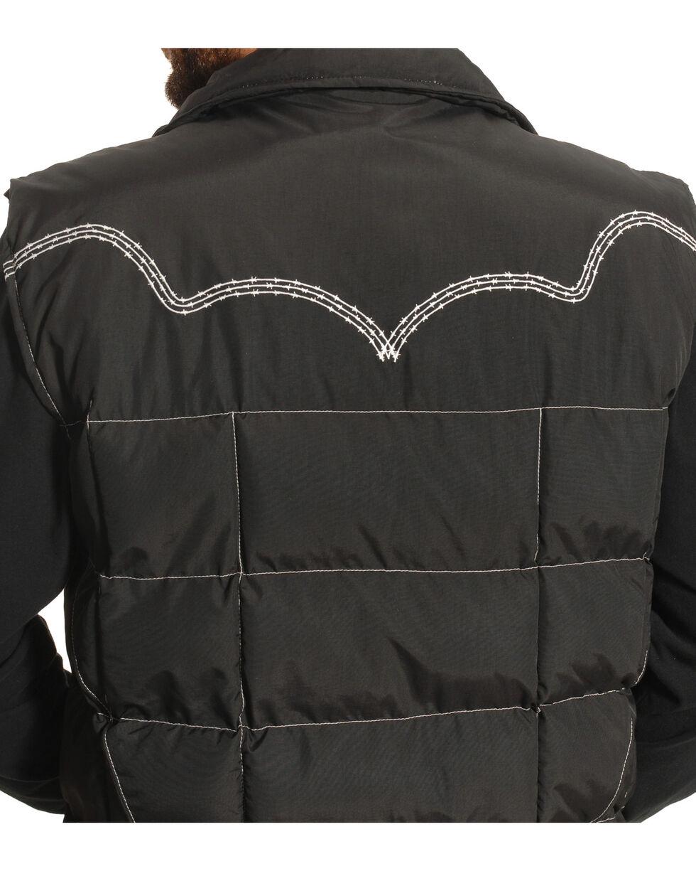Cowboy Hardware Men's Barbed Wire Embroidered Vest, Black, hi-res