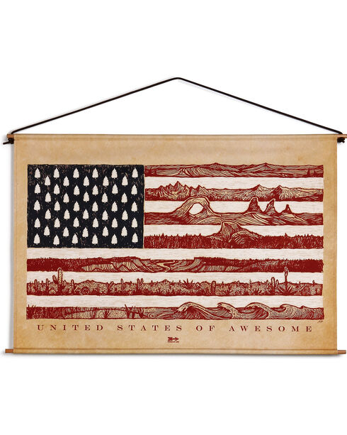Big Sky Carvers United States of Awesome Canvas Hanging Art, Red/white/blue, hi-res