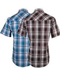 Ely Cattleman Men's Assorted Plaid Short Sleeve Western Shirt, , hi-res