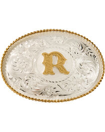 Montana Silversmiths Initial R Western Buckle, , hi-res
