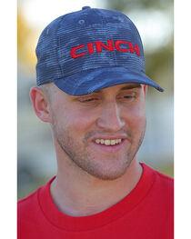 Cinch Men's Blue 3D Logo Baseball Cap , , hi-res