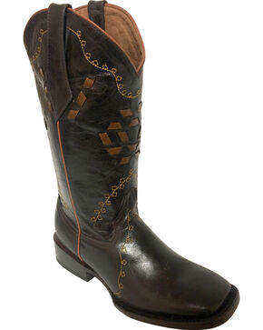 Ferrini Women's Bandita Chocolate Cowgirl Boots - Square Toe, Chocolate, hi-res