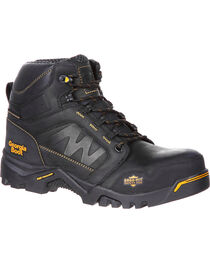 "Georgia Men's Black Amplitude Waterproof 6"" Boots - Composite Toe , , hi-res"