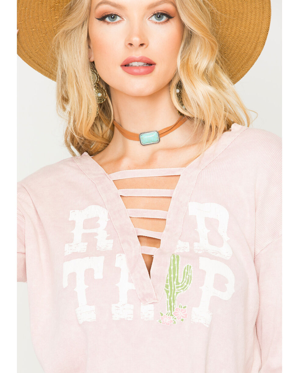 "Vintage Havana Women's Blush ""Road Trip"" Ladder Trim Top , Blush, hi-res"