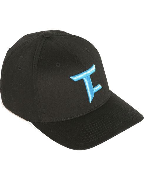 Tuf Cooper by Panhandle Men's FlexFit Ball Cap, Black, hi-res