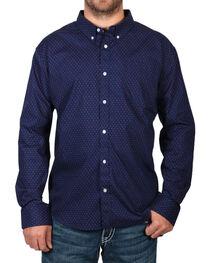 Cody James Men's Navy Dot Patterned Long Sleeve Shirt - Big, , hi-res