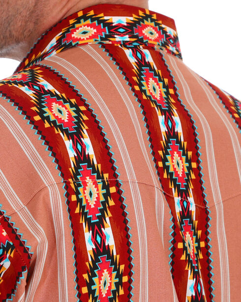 Wrangler Men's Brown Checotah Western Shirt , Brown, hi-res