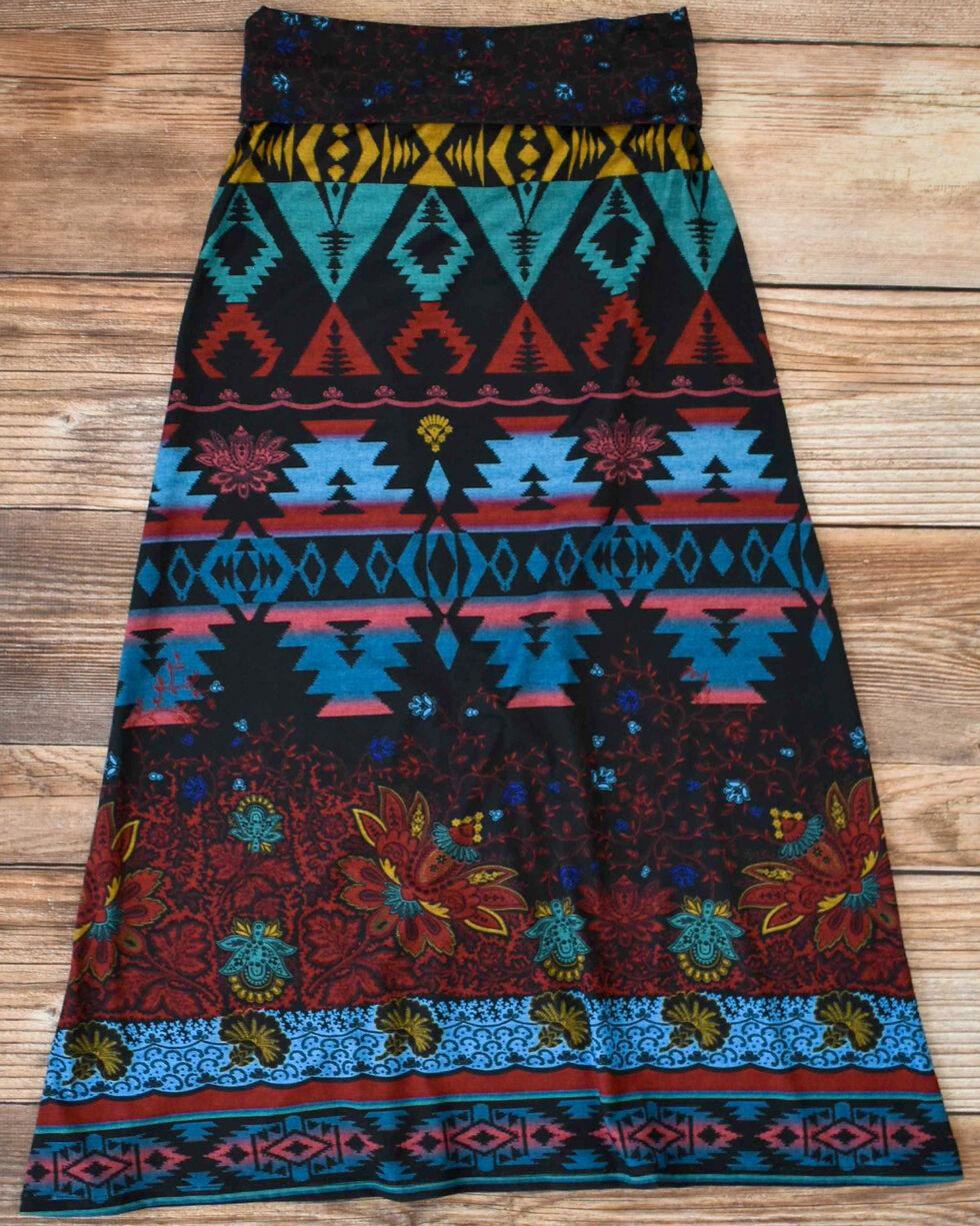 Tasha Polizzi Women's Black Azteca Skirt , , hi-res