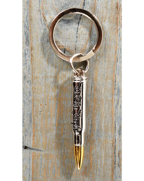 Cody James We The People Bullet Keychain, Silver, hi-res