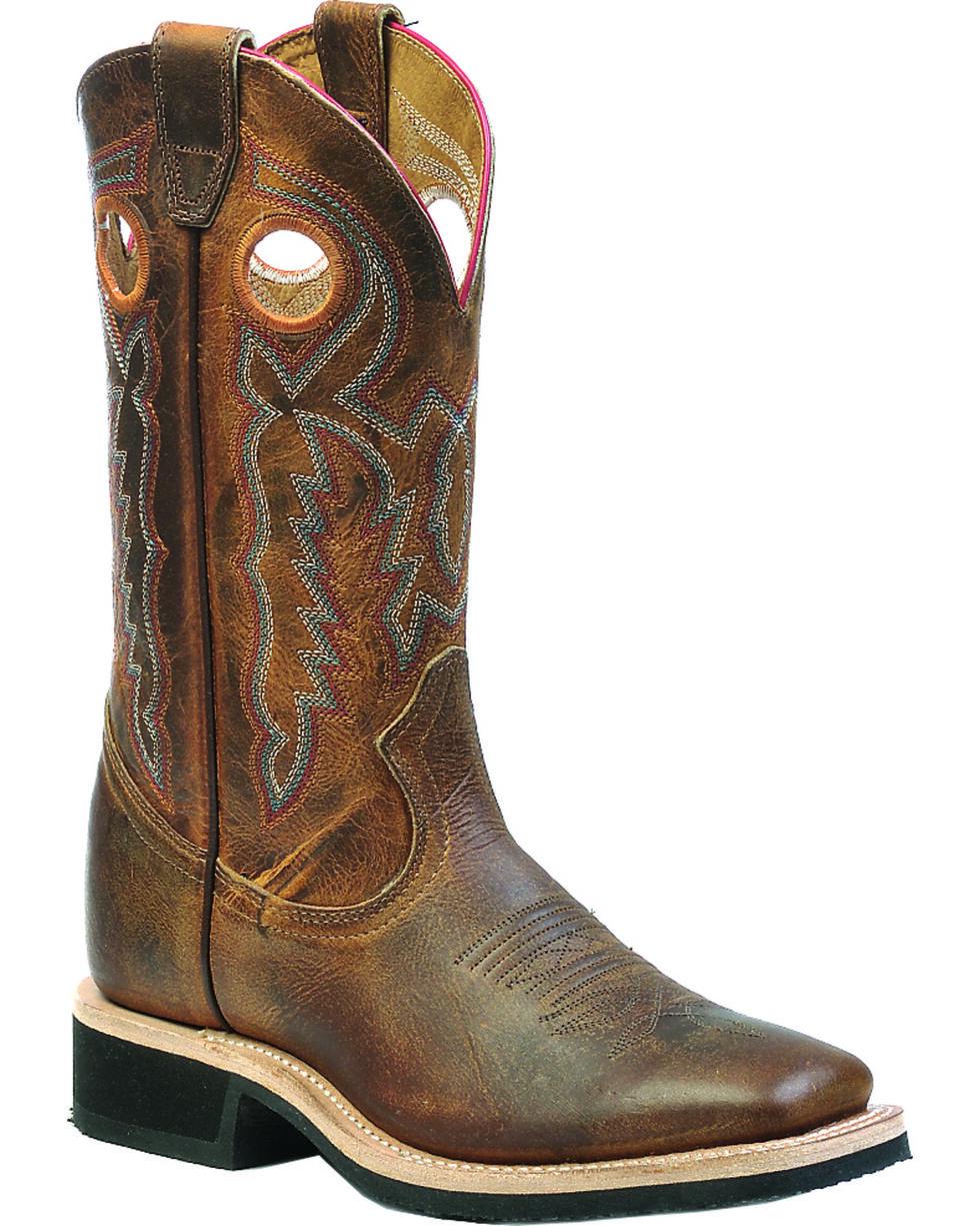 "Boulet Women's 12"" Wide Square Toe 2 Density Sole Boots, Tan, hi-res"