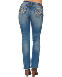 Silver Women's Suki Mid Bootcut Jeans - Plus Size , , hi-res