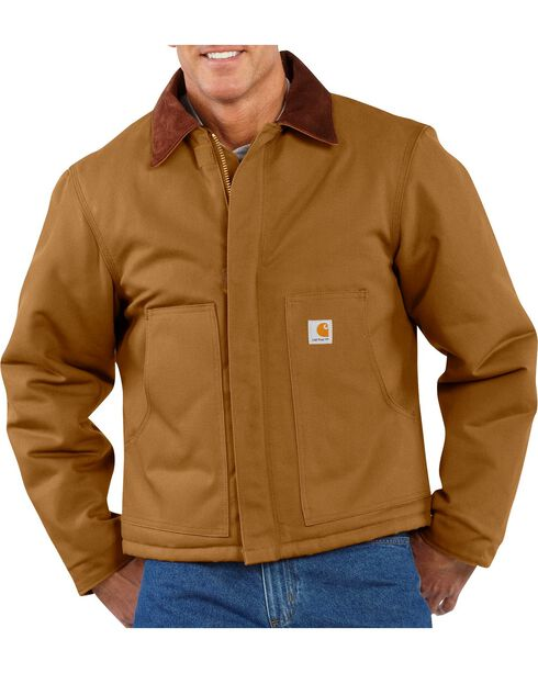 Carhartt Duck Traditional Jacket - Big & Tall, Brown, hi-res
