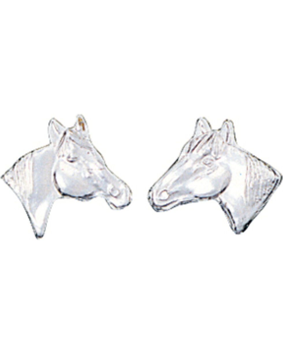 Montana Silversmiths Little Silver Horse Head Earrings, Silver, hi-res