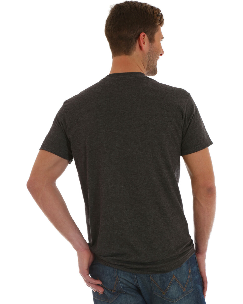Wrangler Men's Charcoal Eagle Print Tee , Charcoal, hi-res
