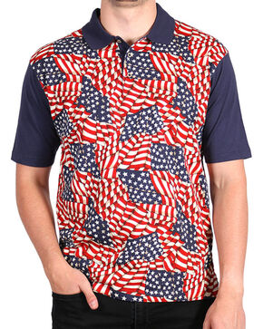 Cody James® Men's Americana Polo, Navy, hi-res