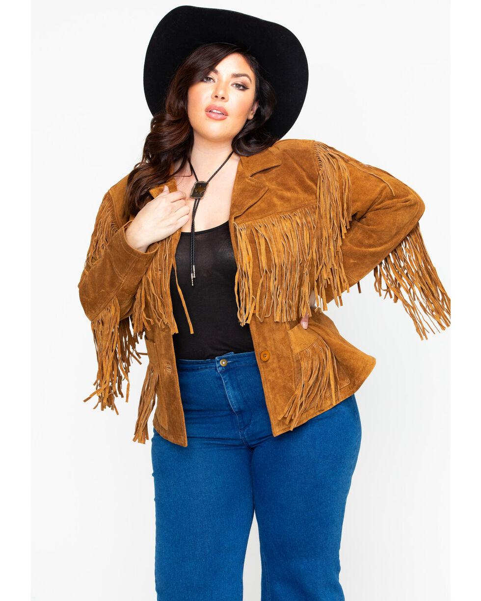 Liberty Wear Women's Suede Fringe Jacket, , hi-res