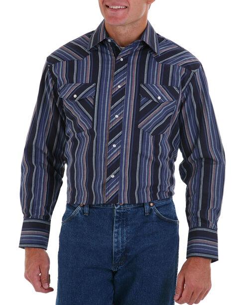 Wrangler Men's Dress Western Stripe Shirt, Multi, hi-res