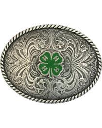 Montana Silversmiths 4-H Emblem Classic Antiqued Attitude Belt Buckle, , hi-res
