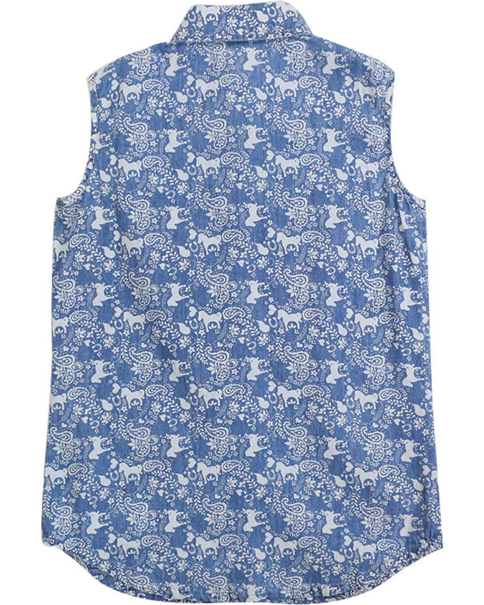 Shyanne® Girls' Horse Printed Sleeveless Shirt, , hi-res