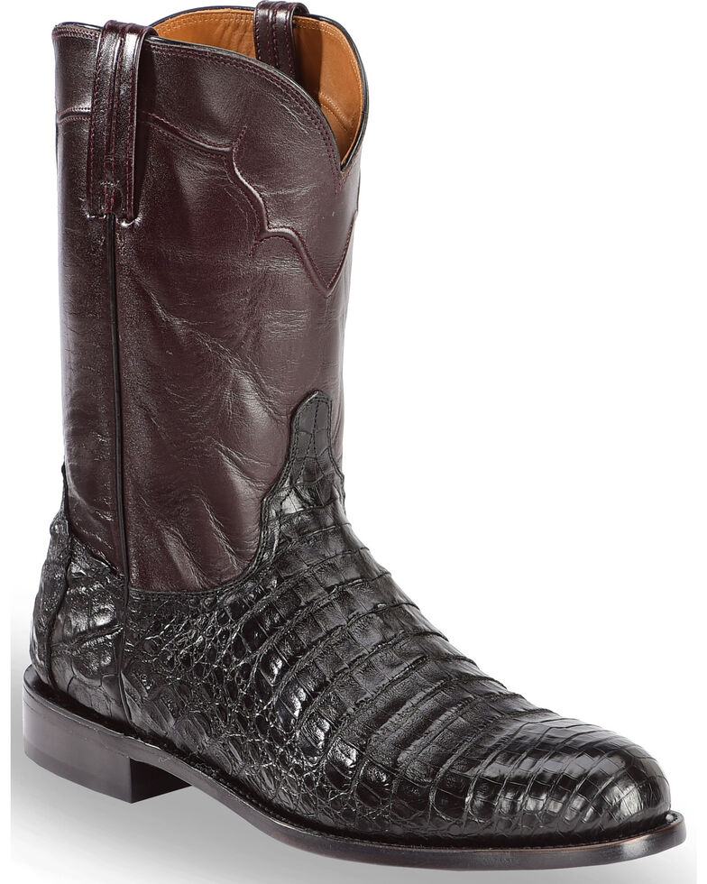 Lucchese Men S Sienna Ultra Caiman Belly Roper Boots