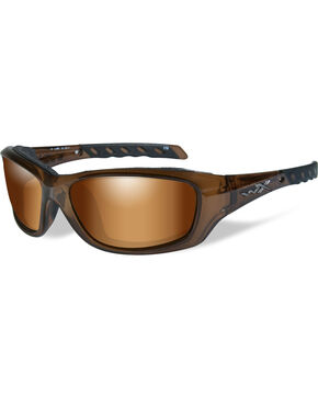 Wiley X Gravity Bronze Flash Brown Crystal Sunglasses   , Brown, hi-res