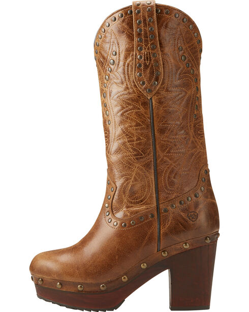Ariat Women's Brown Chattanooga Bite The Dust Boots - Round Toe , Dark Brown, hi-res