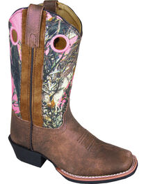 Smoky Mountain Girls' Mesa Camo Western Boots - Square Toe, , hi-res