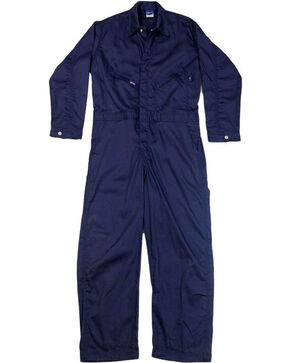 Lapco Men's Navy FR Deluxe Coveralls , Navy, hi-res