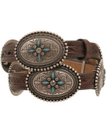 Ariat Oval Concho Belt, , hi-res