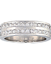 Montana Silversmiths Women's Two Trails Channel Set Band Ring, , hi-res
