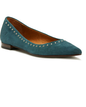 Frye Women's Blue Sienna Micro Stud Ballet Flats - Pointed Toe, Blue, hi-res