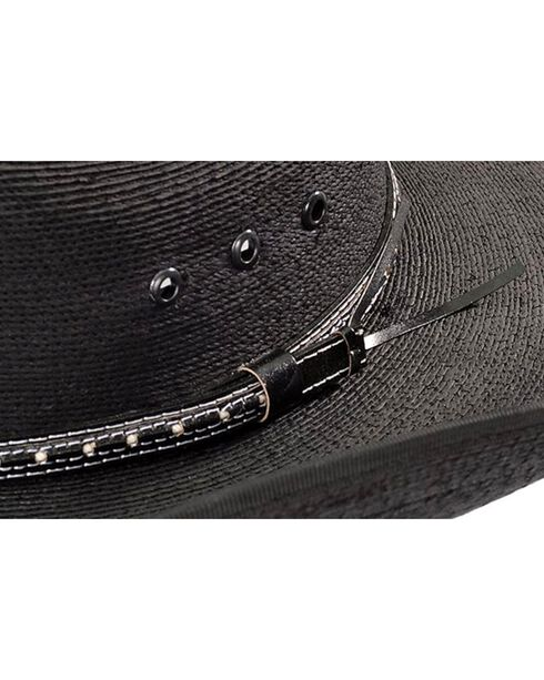 Bullhide Men's Country Strong Straw Hat, Black, hi-res