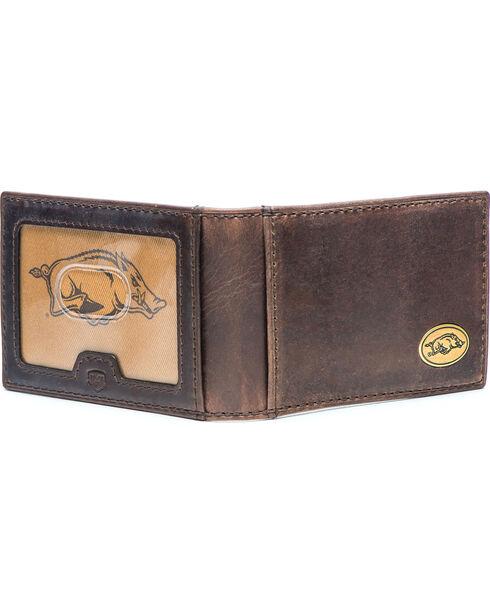 Jack Mason Men's Arkansas Legacy Flip Bifold Wallet , Brown, hi-res