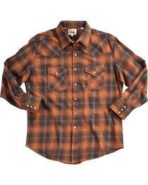Ely Cattleman Men's Copper Brawny Flannel Shirt - Tall , , hi-res