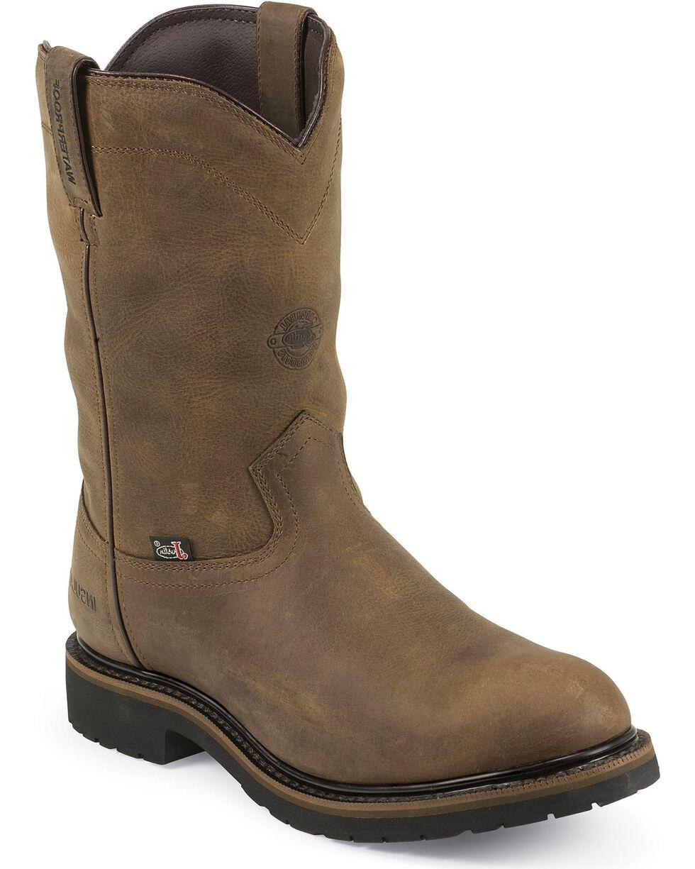 Justin Men's Waterproof & Insulated Work Boots, Brown, hi-res