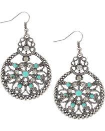 Shyanne® Women's Vintage Medallion Earrings, , hi-res