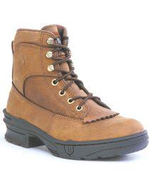 "Roper Footwear Women's Crossrider Horseshoe 3/4"" Heel Boots, , hi-res"